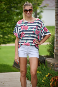 April Showers Floral Dolman Top