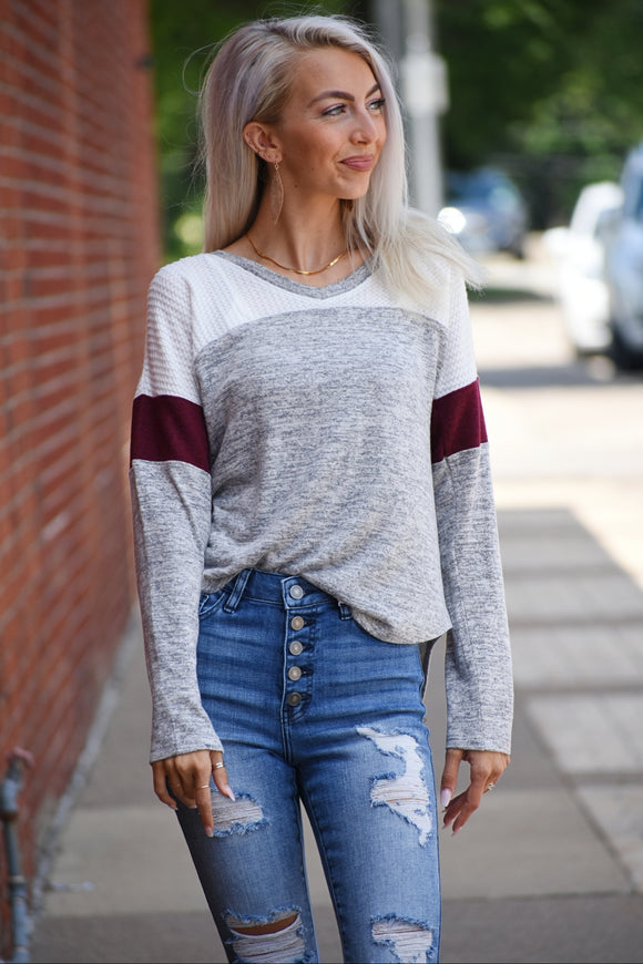 Aubree Hacci Long Sleeve Top