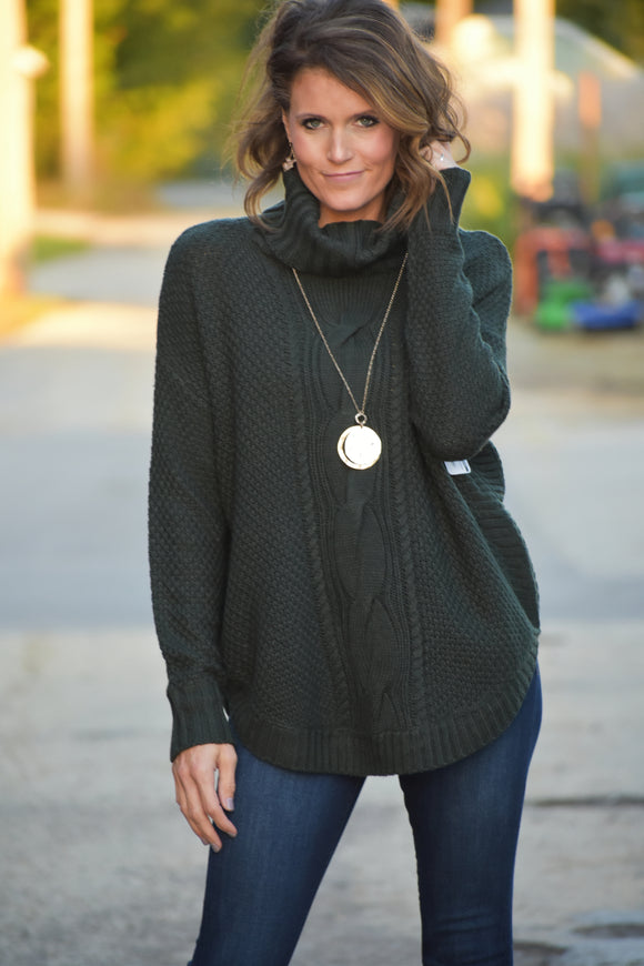 Bethany Emerald Turtleneck Sweater