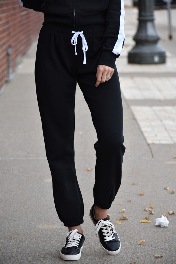 Basic Black Fleece Joggers