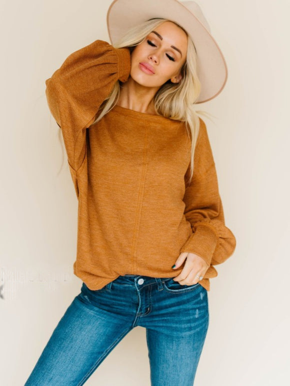 Boston Balloon Sleeve Knit Top
