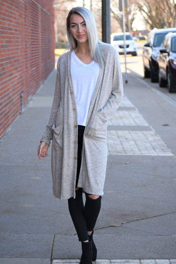 Bri Brushed Knit Cardigan