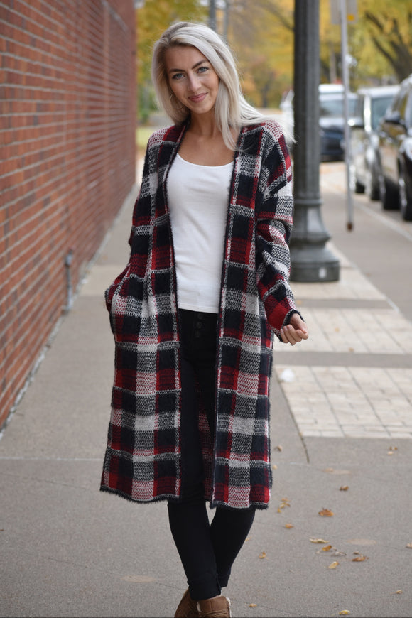 Buffalo Plaid Cozy Cardigan