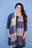 Thick Big Plaid Pattern Oversized Scarf - urbanity online