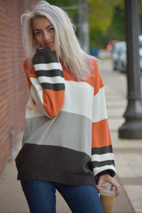Candy Corn Color Block Sweater