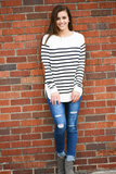 Cedar Striped Pullover Sweater