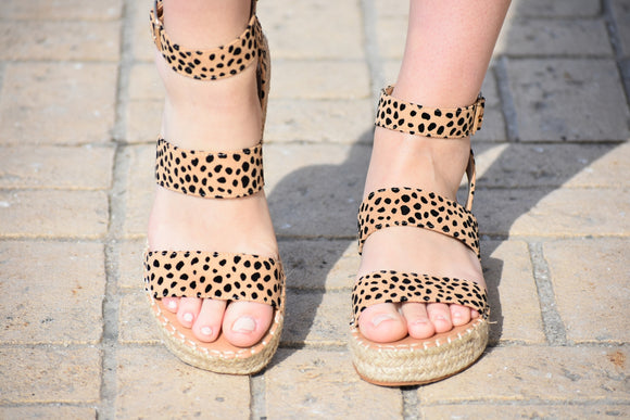 Cheetah Espadrille Sandals