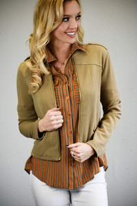 Classy Girl Taupe Jacket