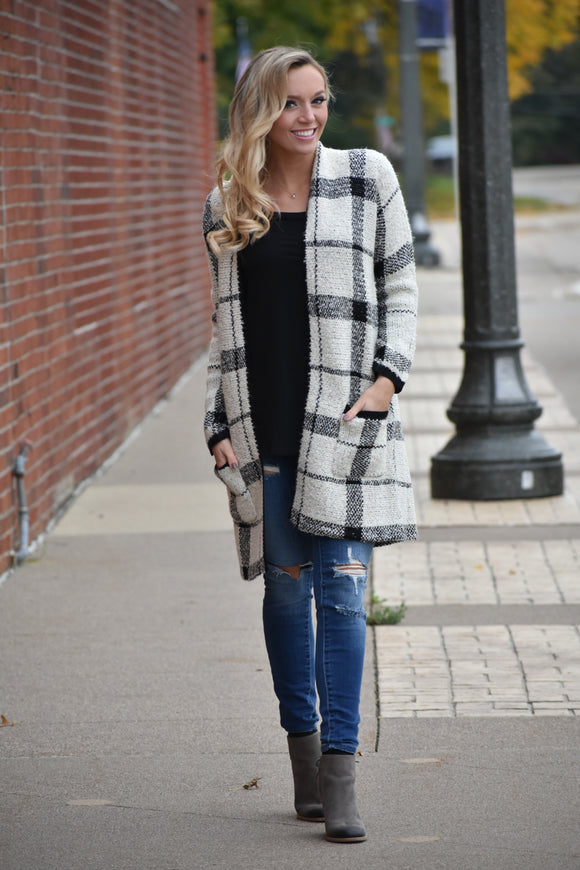 Cora Lee Check Plaid Cardigan