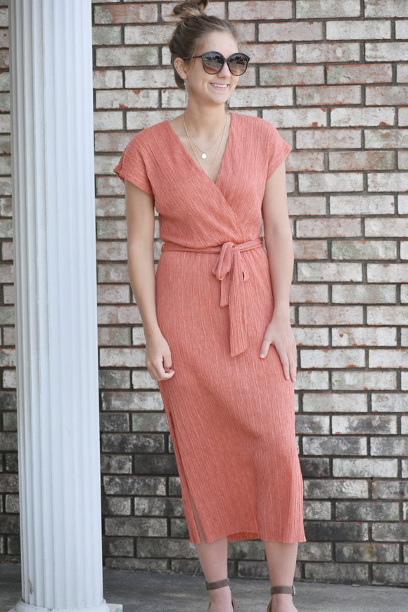 Gretchen Short Sleeved Wrap Dress