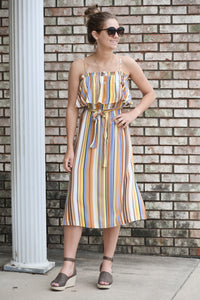Mello Me Belted Midi Dress