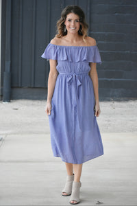 Lavender Fields Off Shoulder Dress
