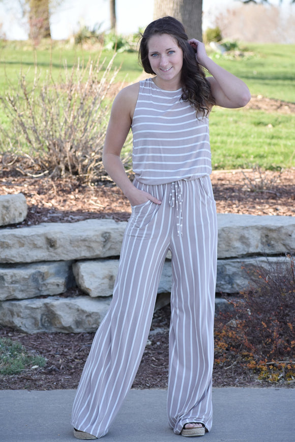 Kori Striped Jumpsuit