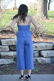 Chanda Denim Peplum Jumpsuit