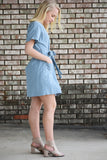 Daisy Button Tie Dress