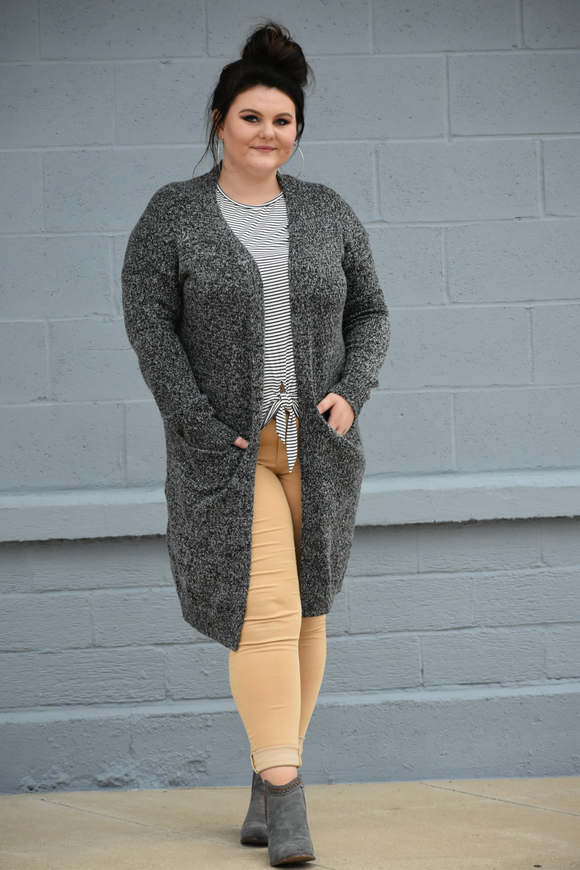 Decatur Open Front Cardigan