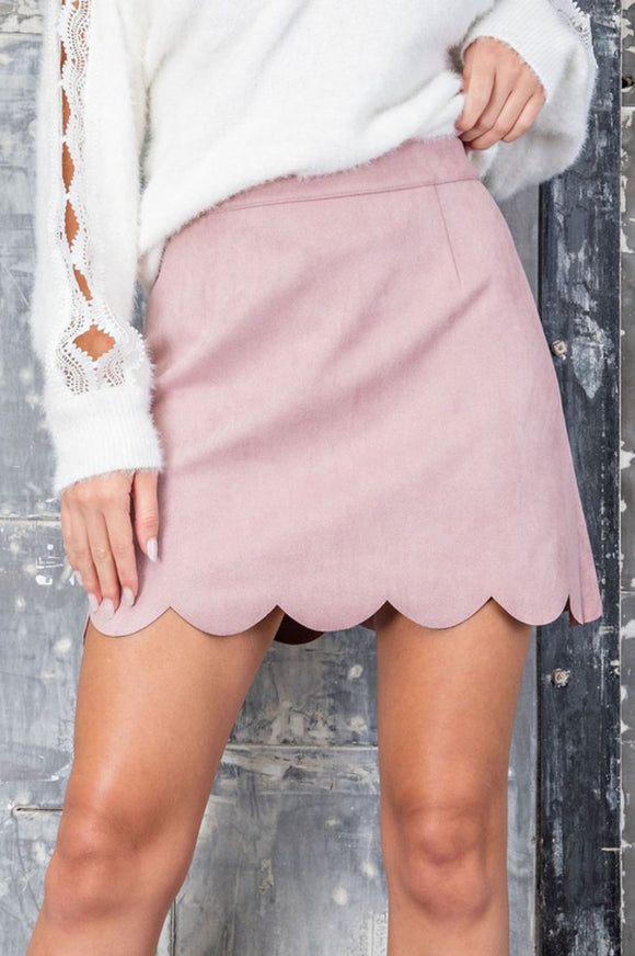 Demi Suede Mini Skirt