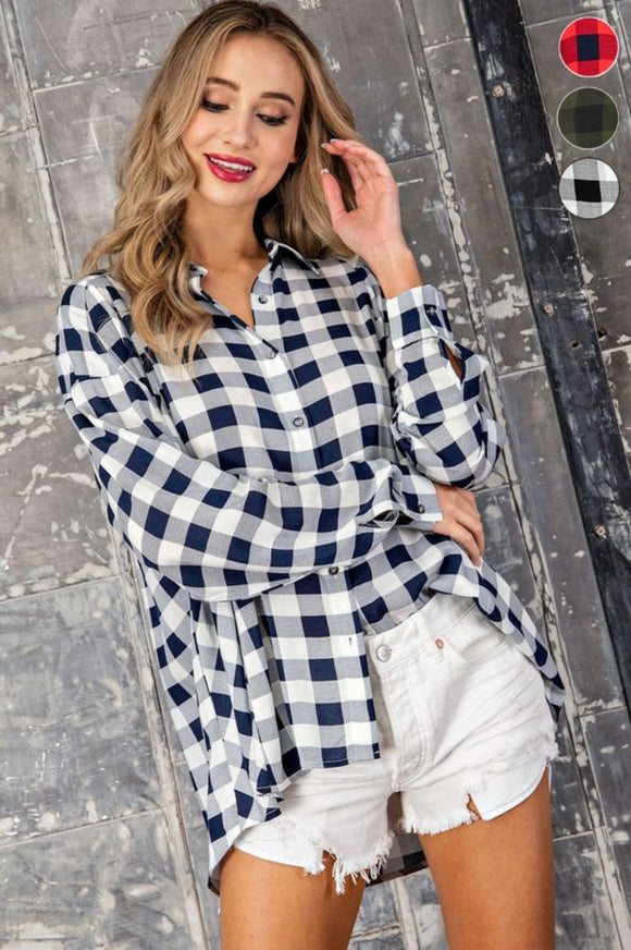 Drew Plaid Top