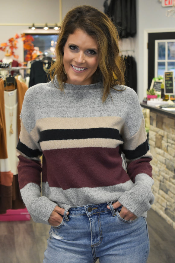 Elizabeth Mock Neck Sweater