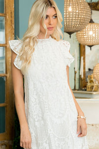 Emmerson Ivory Lace Dress