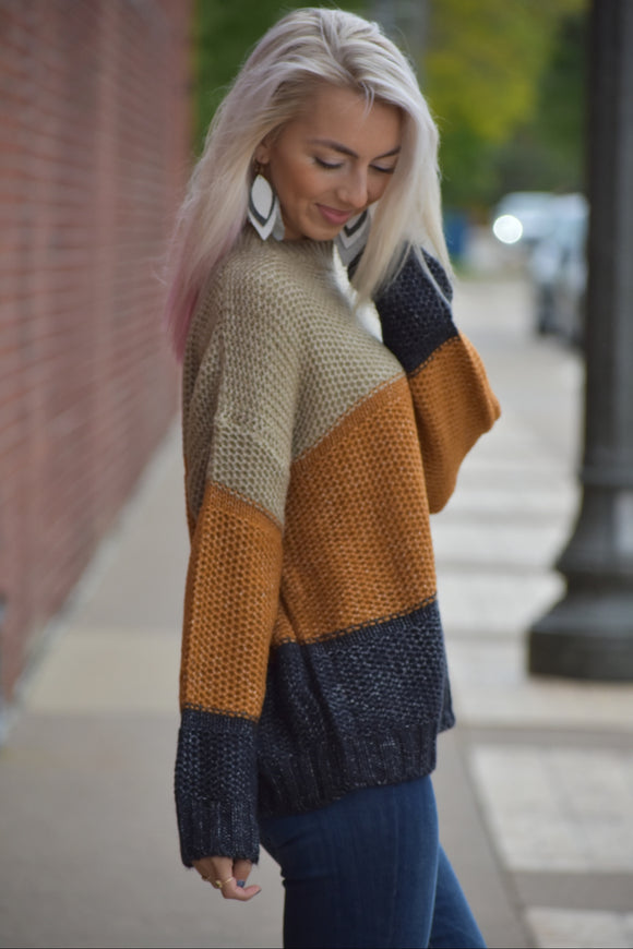 Fall Festival Color Block Sweater