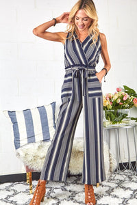 Full of Sass Striped Jumpsuit