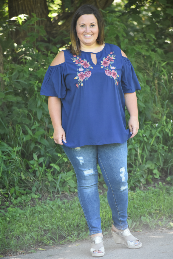 Garden Glory Cold Shoulder Top