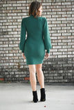 Gemini Mock Neck Sweater Dress