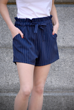 Girls' Night Out Striped Shorts