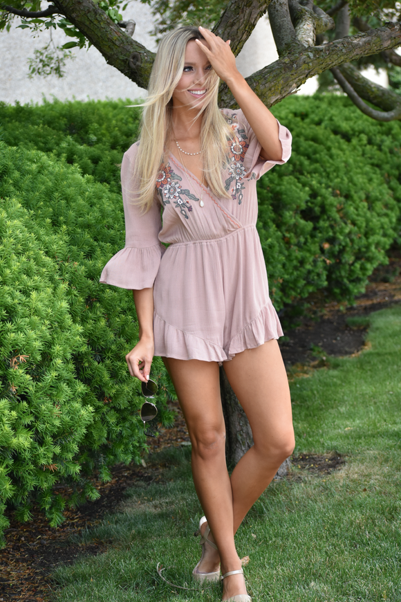 Glenn Meadows Embroidered Romper