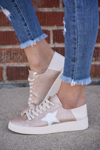 Hayden Rose Gold Star Low Tops