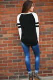 Journey Color Block High Low Sweater