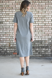 Julie Short Sleeve Tee Midi Dress