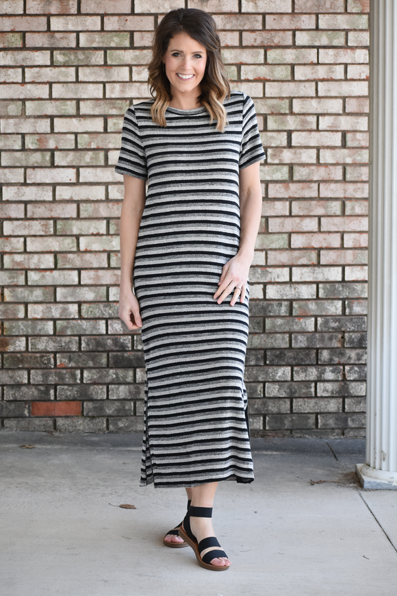 Lydia Striped Midi Dress
