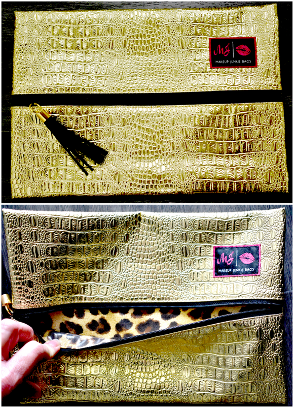 Makeup Junkie Bag - Luxury Medium Gold