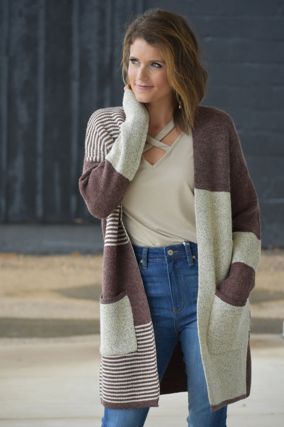 Memphis Color Block Cardigan