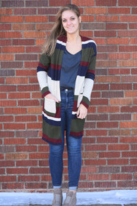 Mighty Winds Color Block Cardigan