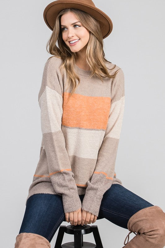 Molly Color Block Sweater