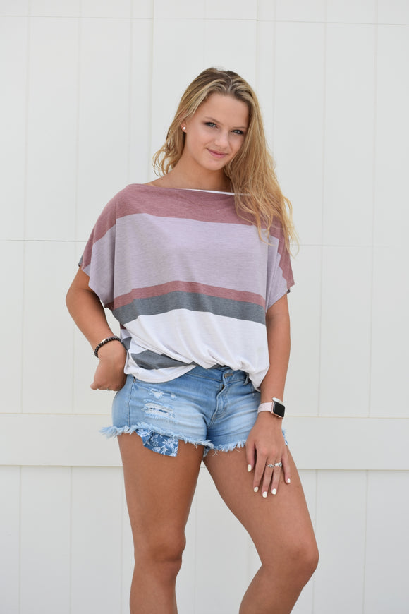 Paige Striped Top