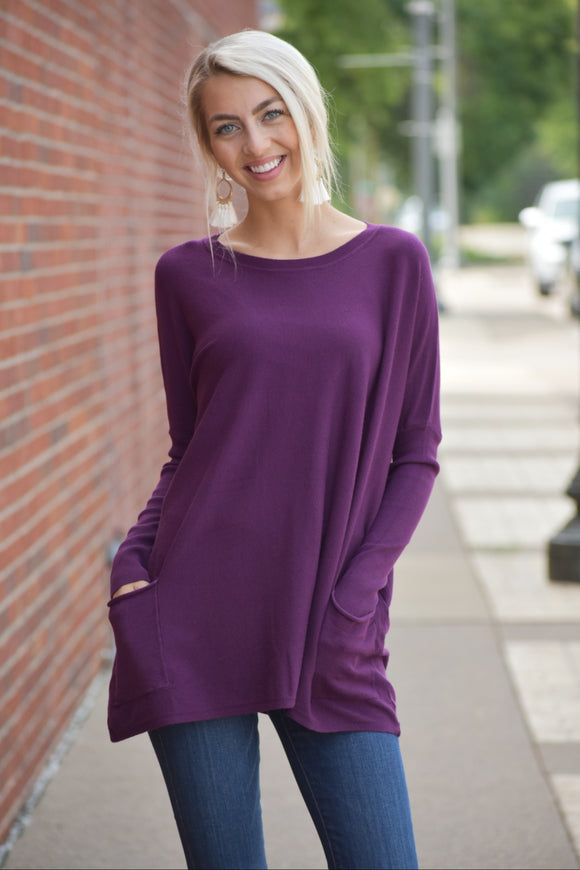 Peyton Rae Oversized Pocket Sweater