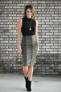 Pheonix Snake Skin Print Pencil Skirt