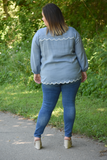 Prairie Eyelet Embroidered Top
