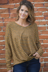 Raleigh Striped Hacci Top