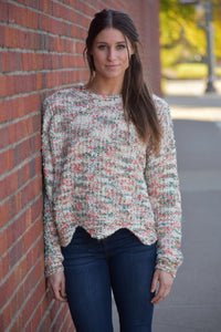 Rustic Autumn Popcorn Sweater