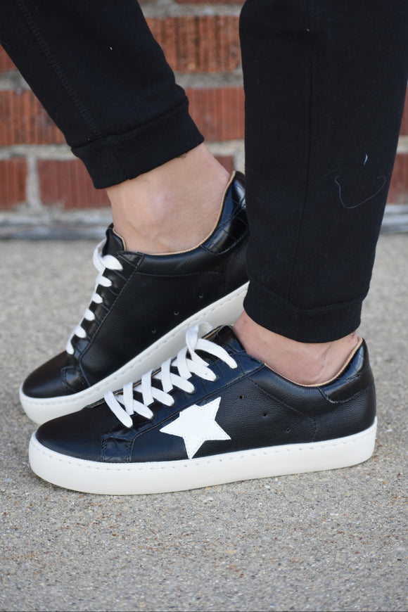 Sabrina Black Star Low Tops