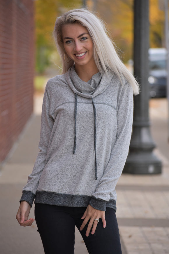 Sadie Drawstring Cowl Top