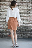 Scarlett Copper Paperbag Skirt