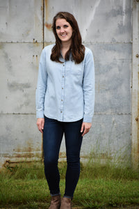 Simple Life Denim Button Down Shirt