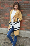 Skatetown Colorblock Cardigan Sweater