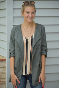 Spring Fever Button Up Jacket